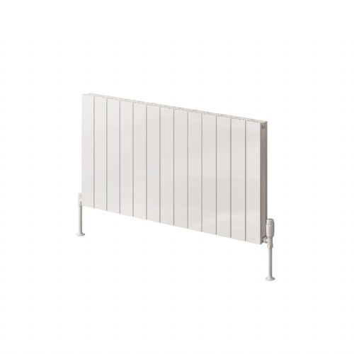 Reina Casina Double Horizontal Designer Radiator - 600mm High x 470mm Wide - White